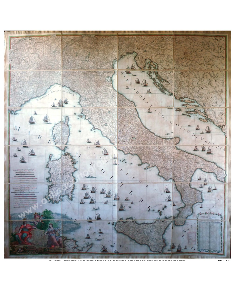 Carta generale dell'Italia divisa ne' suoi stati e provincie
